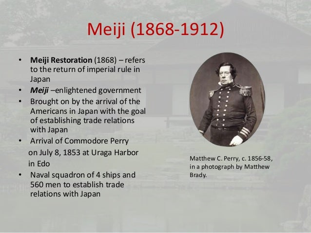 meiji restoration 1868 1912 essay 1868–1912: taishō world war i essay on the meiji restoration era, 1868-1889 on the about japan, a teacher's resource website a rare collection of japanese.