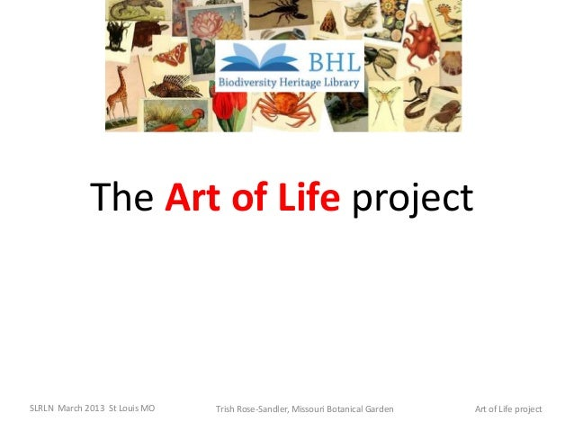 The Art of Life projectSLRLN March 2013 St Louis MO   Trish Rose-Sandler, Missouri Botanical Garden   Art of Life project