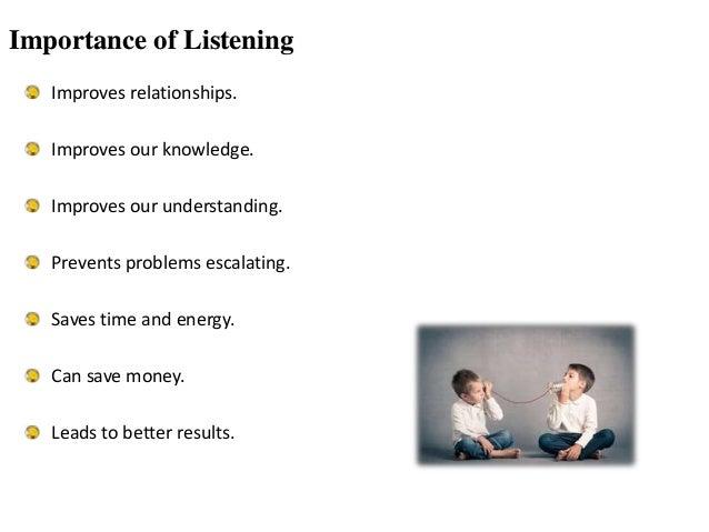 speaker listener relationship questions
