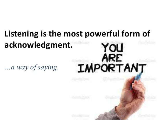 Importance of Active Listening