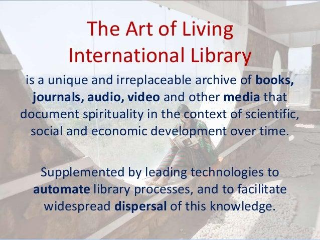 Art of Living Library - Presentation Slide 2