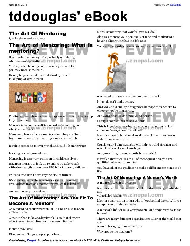 April 25th, 2013 Published by: tddouglasCreated using Zinepal. Go online to create your own eBooks in PDF, ePub, Kindle an...