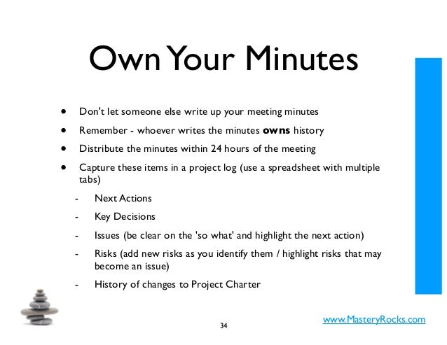 how to write up minutes from a meeting