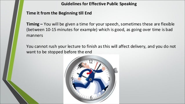 guidelines to effective public speaking