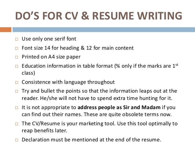 What Size Font To Use For Resume Font Size For Resume Hatch