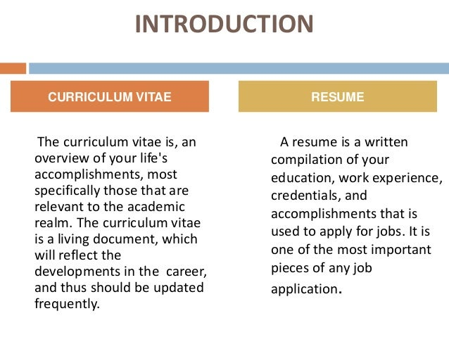 cv introduction example