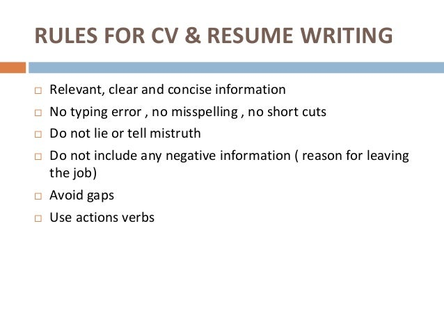 9. DONu0027TS FOR CV U0026 RESUME WRITING ...