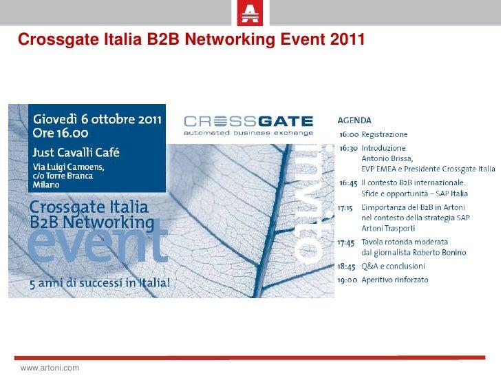 Crossgate Italia B2B Networking Event 2011www.artoni.com
