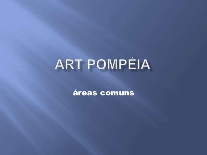 áreas comuns