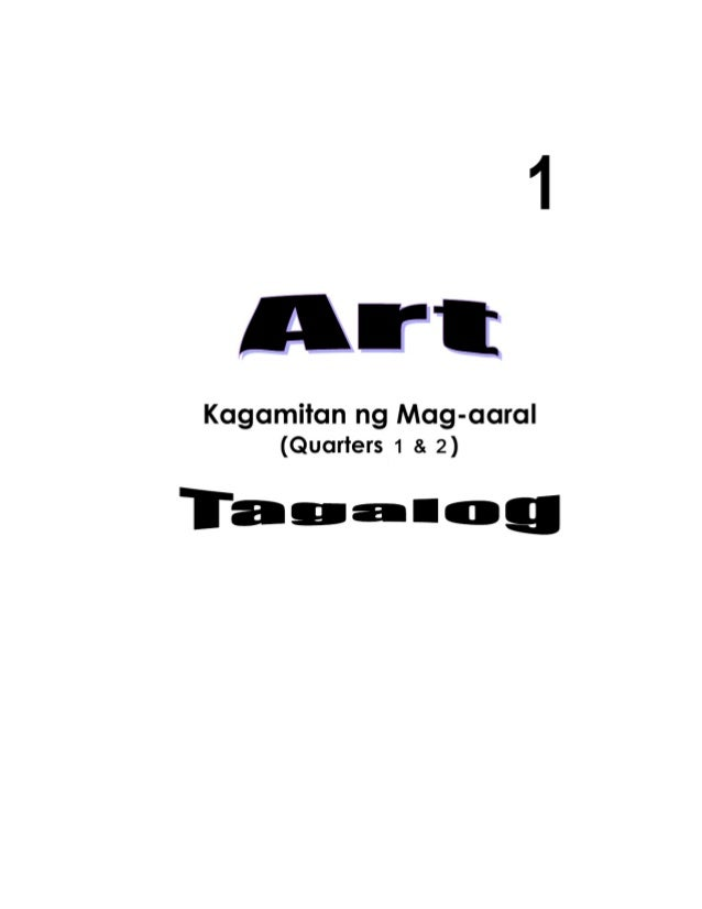 K TO 12 GRADE 1 LEARNING MATERIAL IN ARTS (Q1-Q2)