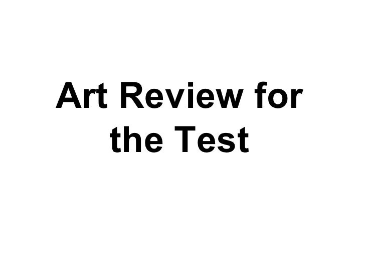 Art Review for the Test