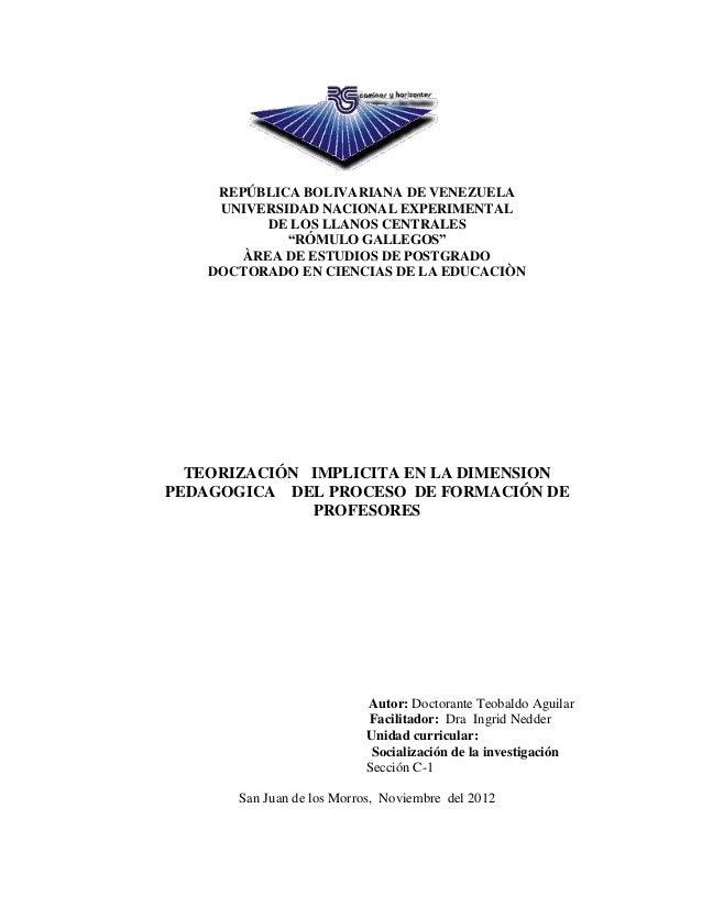 """REPÚBLICA BOLIVARIANA DE VENEZUELA     UNIVERSIDAD NACIONAL EXPERIMENTAL           DE LOS LLANOS CENTRALES             """"RÓ..."""