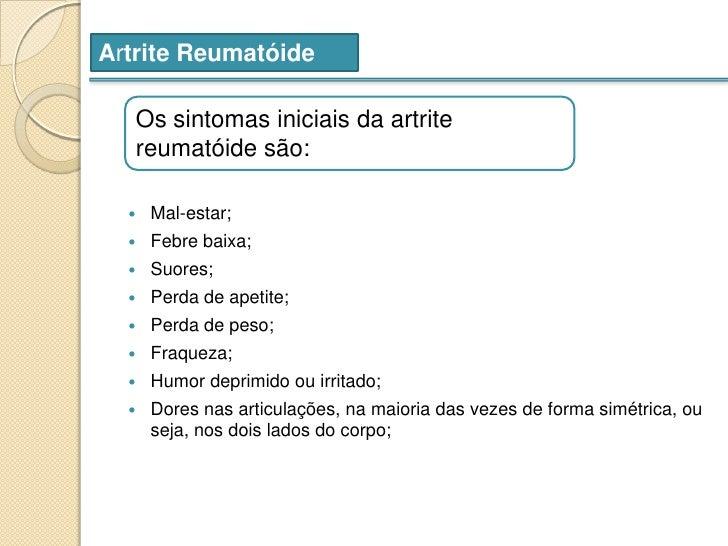 artrose nos pés sintomas