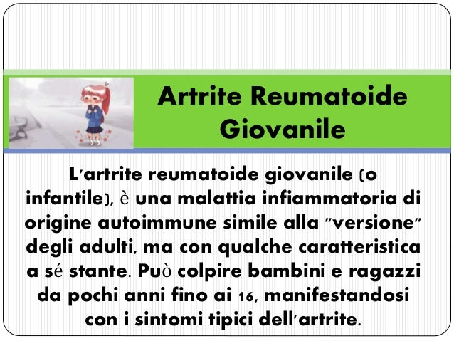 Artrite Reumatoide Giovanile