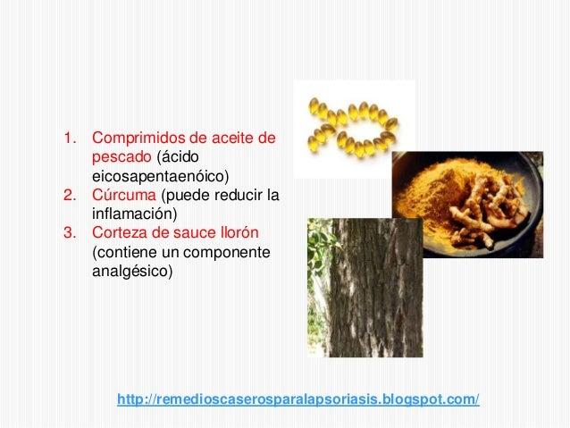 1. Comprimidos de aceite depescado (ácidoeicosapentaenóico)2. Cúrcuma (puede reducir lainflamación)3. Corteza de sauce llo...
