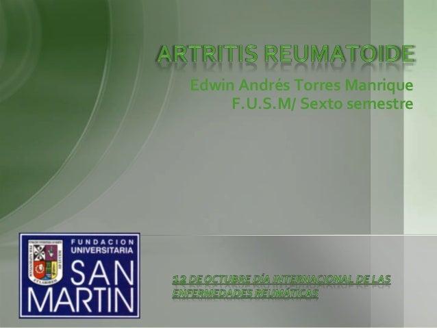 Edwin Andrés Torres Manrique F.U.S.M/ Sexto semestre