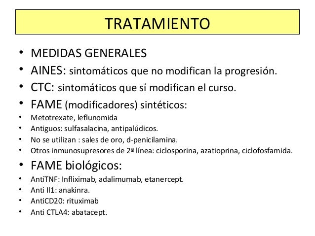 • En 1ª línea de tratamiento, considerándolo más bien como alivio sintomático: AINEs: • (-) COOX1: Eficaces antiinflamator...