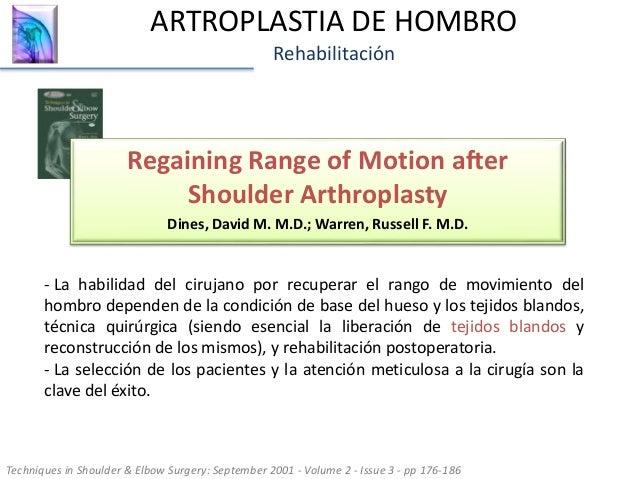 29. ARTROPLASTIA DE HOMBRO Rehabilitación ... cbdeb2c35d0f