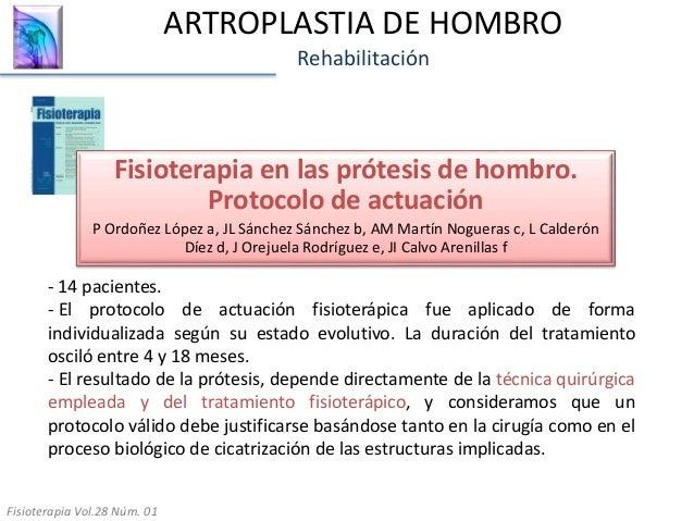 30. ARTROPLASTIA DE HOMBRO Rehabilitación Fisioterapia en las prótesis ... 08a7da67deac