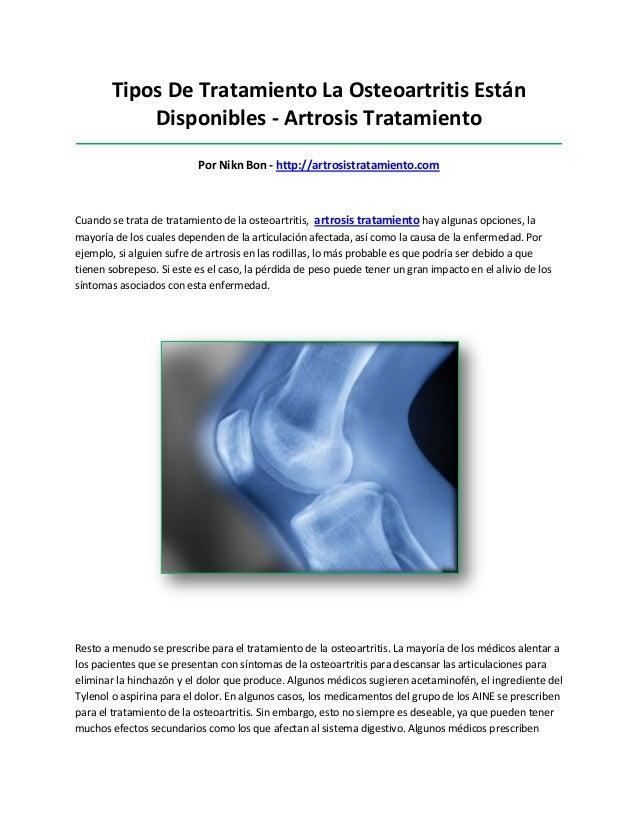 Tipos De Tratamiento La Osteoartritis EstánDisponibles - Artrosis Tratamiento_____________________________________________...