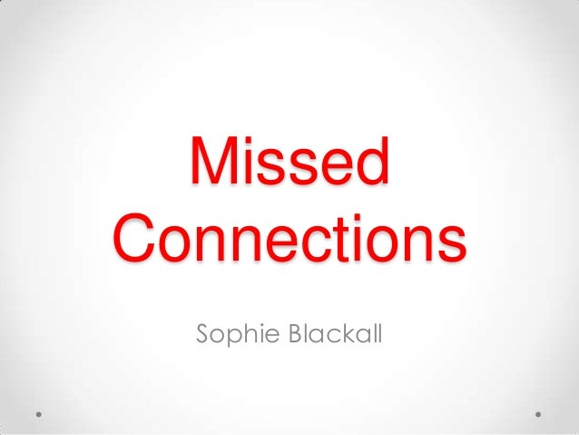 MissedConnections  Sophie Blackall