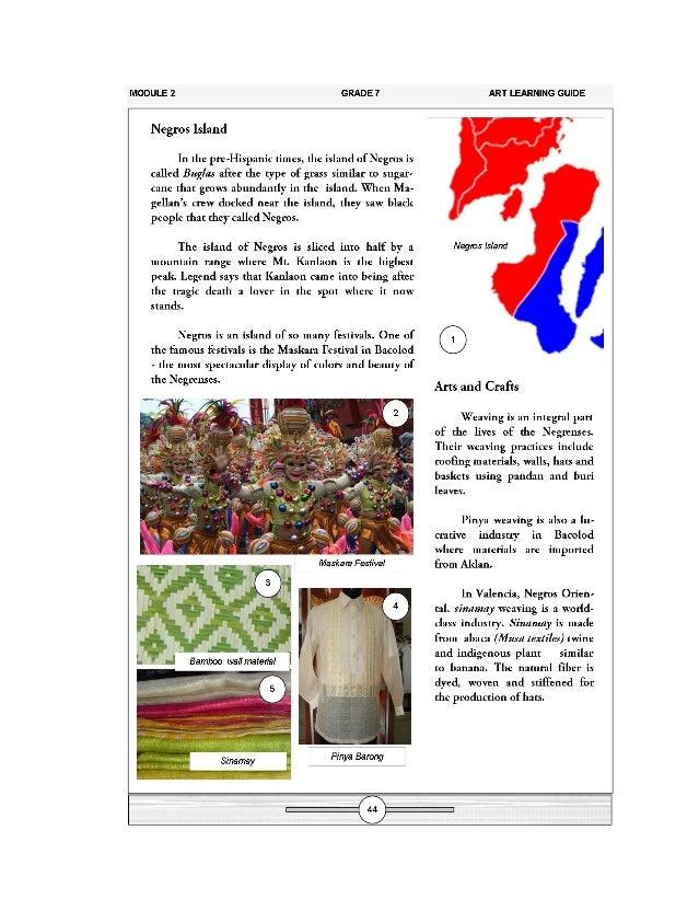 k to 12 grade 7 learning module in arts rh slideshare net teaching guide in mapeh 7 teacher's guide in mapeh 7 arts