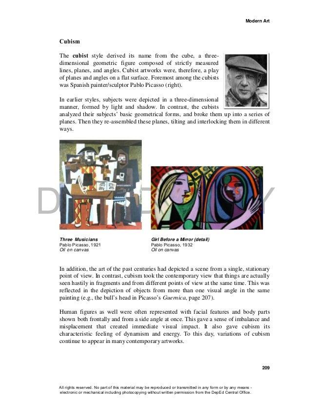Grade 10 Arts - Learning Material {Unit I: MODERN ART}