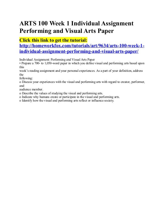 performing and visual arts paper This paper provides planners and the arts and culture field encompasses the performing, visual, and fine arts journal of the american planning association.