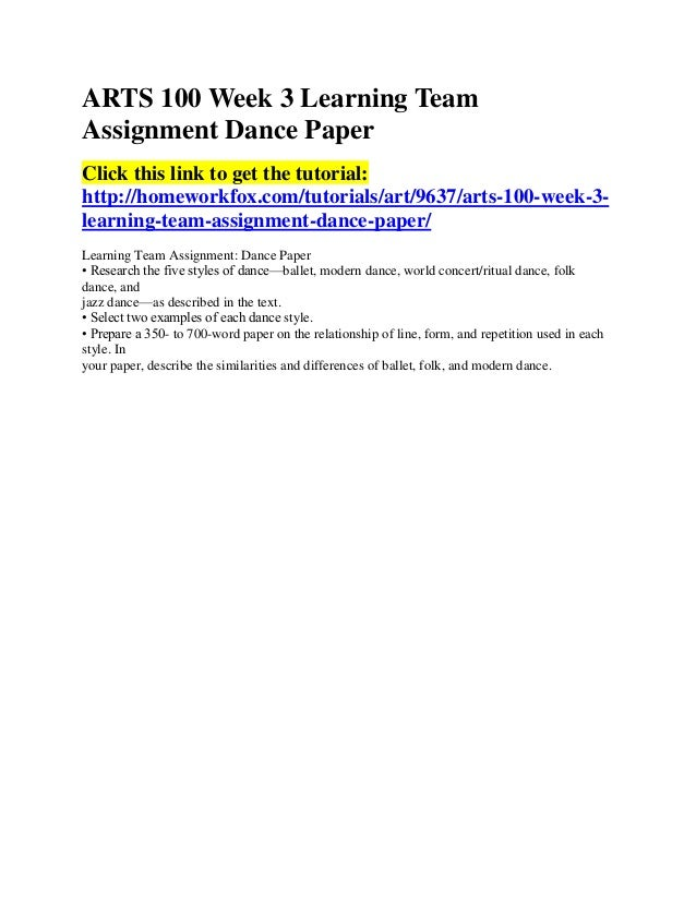 learning team a week 3 paper Soc 100 week 3 learning team assignment online social networking paper click the link to get answers: .
