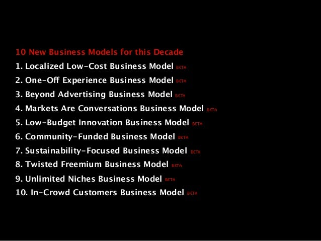 Arts 10 new business models for this decade Slide 2