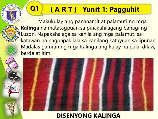 Makukulay ang pananamit at palamuti ng mga Kalinga na matatagpuan sa pinakahilagang bahagi ng Luzon. Napakahalaga sa kanil...