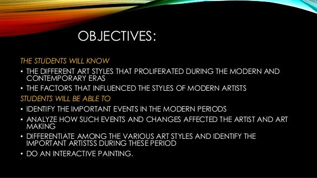 Modern And Contemporary Art Styles Ppt