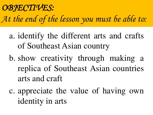 Lesson  Arts And Crafts Of West Asia