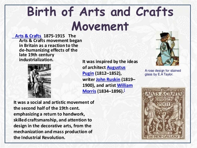 Art And Craft Movement Slideshare
