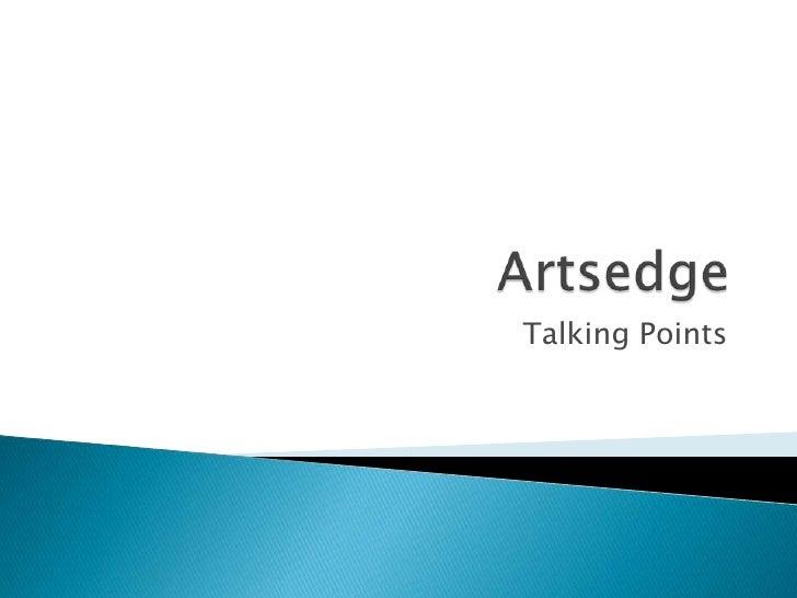 Artsedge<br />Talking Points<br />