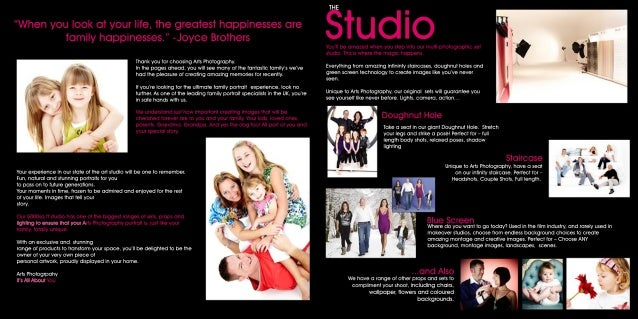Arts Photography Family Portrait Brochure