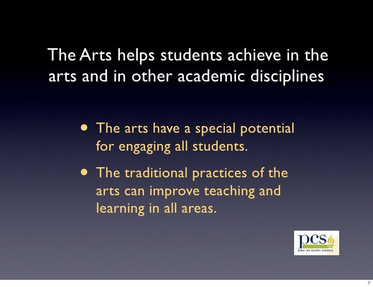 importance of arts education As the repression builds, art comes to be regarded as 'time off for  art programs  within education has its importance in not only.