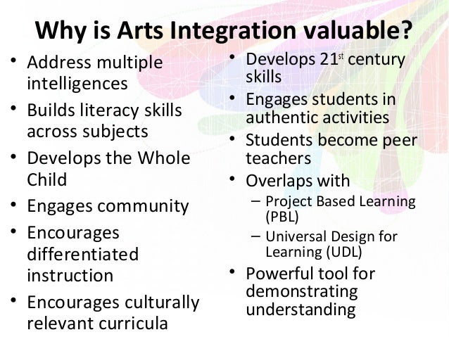 """arts integration in education Evidence builds in favor of integrating arts for positive outcomes by suzanne  bouffard in boston, students studied langston hughes' poem, """"the negro  speaks."""
