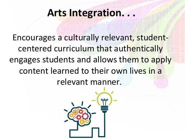 arts integration in education The arts integration in education infographic shows how arts integration can serve as the connective pathway toward reaching and teaching every child.