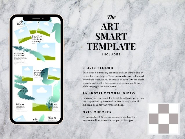 Art smart instagram puzzle template