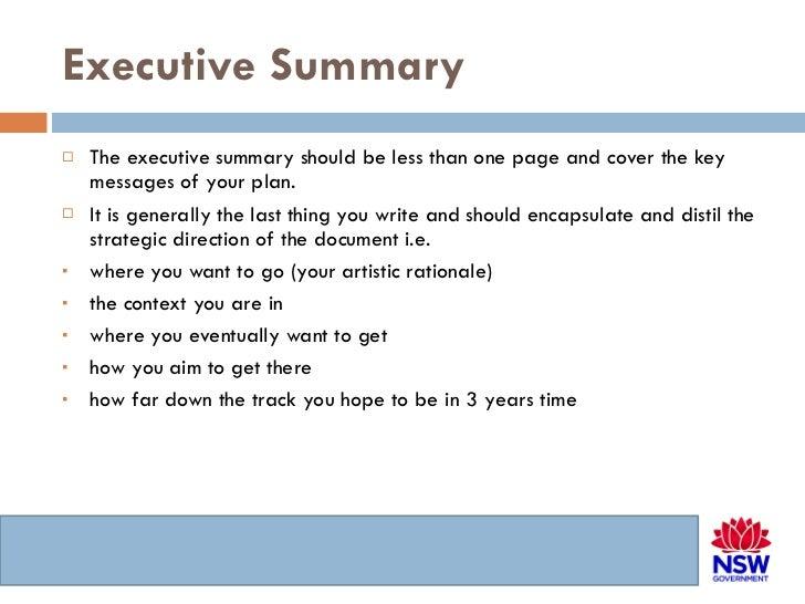 one page executive summary sample - Keni.candlecomfortzone.com