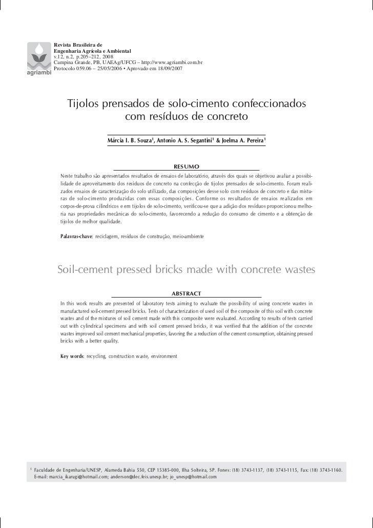 Revista Brasileira de             Engenharia Agrícola e Ambiental             v.12, n.2, p.205–212, 2008             Campi...