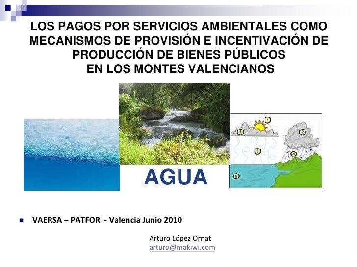 LOS PAGOS POR SERVICIOS AMBIENTALES COMO     MECANISMOS DE PROVISIÓN E INCENTIVACIÓN DE           PRODUCCIÓN DE BIENES PÚB...