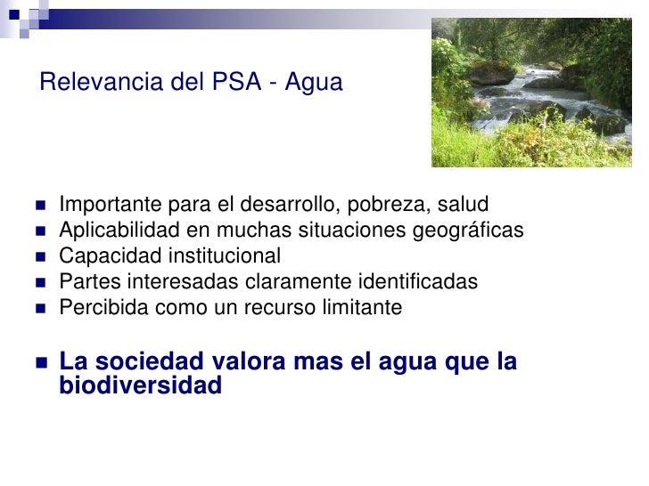 Los pagos por servicios Ambientales Slide 2