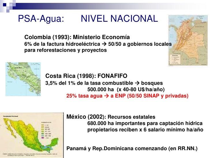 Los pagos por servicios Ambientales Slide 3