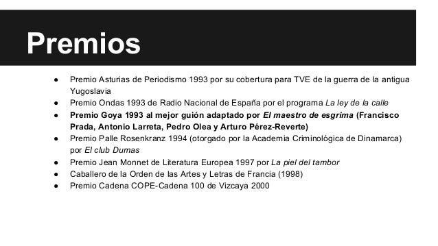 Premios  ● Premio Asturias de Periodismo 1993 por su cobertura para TVE de la guerra de la antigua  Yugoslavia  ● Premio O...