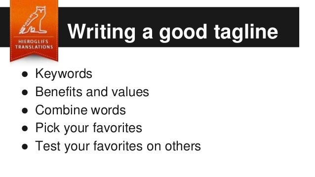 Writing a blog tagline ideas