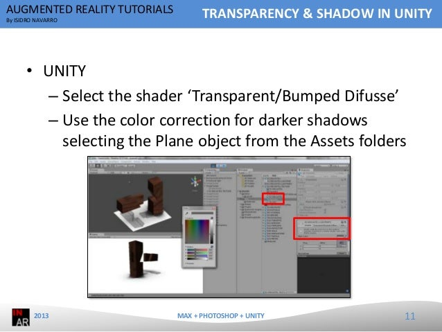 Augmented Reality Tutorial - Transparency & Shadow in Unity
