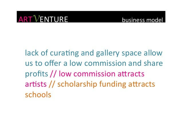 ARTVENTURE                            business  model   lack  of  curaGng  and  gallery...