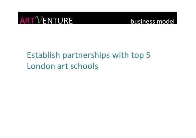 ARTVENTURE                            business  model   Establish  partnerships  with  top...
